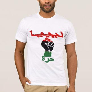 Libia libre camiseta