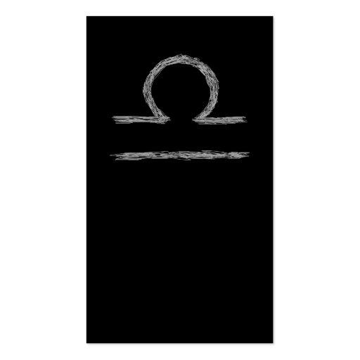 Libra. Muestra astrológica del zodiaco Plantillas De Tarjetas De Visita