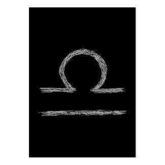 Libra. Muestra astrológica del zodiaco Tarjetas De Visita Grandes