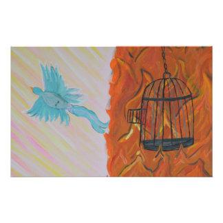 Libre determinado del pájaro papelería