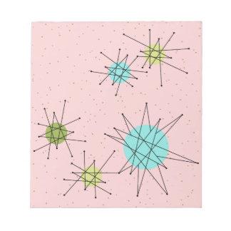 Libreta atómica icónica rosada de Starbursts Bloc De Notas