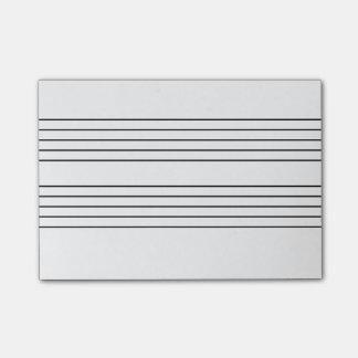Libreta del personal de la música notas post-it®
