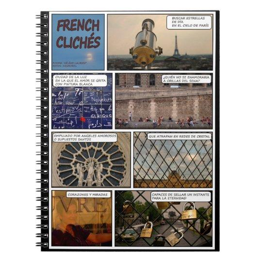 Libreta French Cliches fondo negro