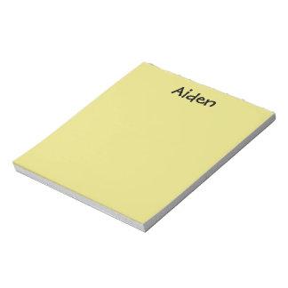 Libreta personalizada amarillo