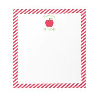 Libreta personalizada del profesor de Apple, roja