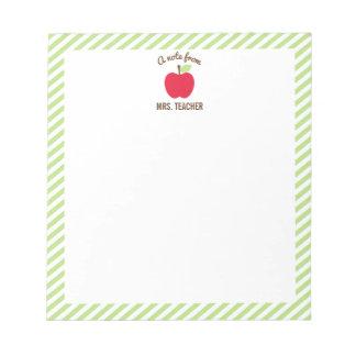 Libreta personalizada del profesor de Apple, verde