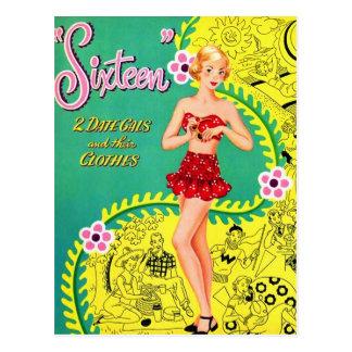 Libro adolescente del dulce dieciséis del chica postal