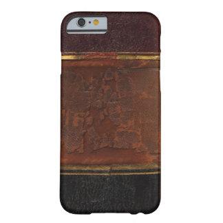 Libro antiguo retro, marrón encuadernado de la funda de iPhone 6 barely there