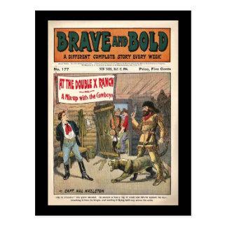Libro cómico occidental serial valiente e postal