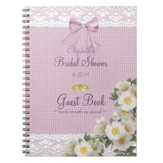 Libro de huésped nupcial de la ducha cuadernos