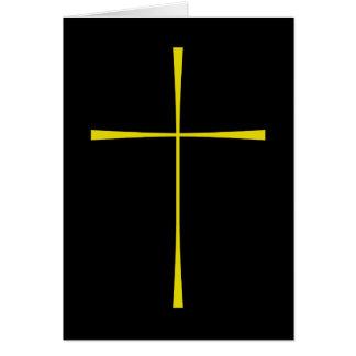 Libro de la cruz de la oración común tarjetas