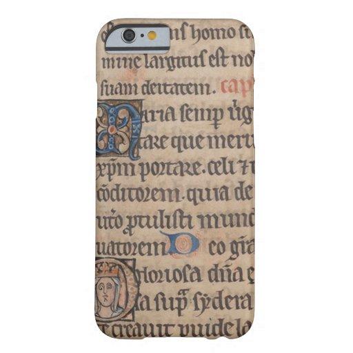 Libro de la escritura del latín medieval de las funda de iPhone 6 barely there