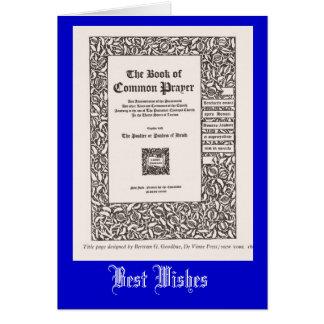 Libro de la oración común tarjeta de felicitación