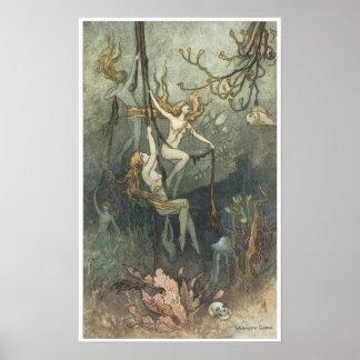 Libro de la poesía de hadas, Mar-ninfas Impresiones