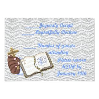 Libro de los bautizos de los muchachos invitación 8,9 x 12,7 cm