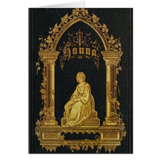 Libro de oración judío dorado Hanna de la antigüed Tarjeta