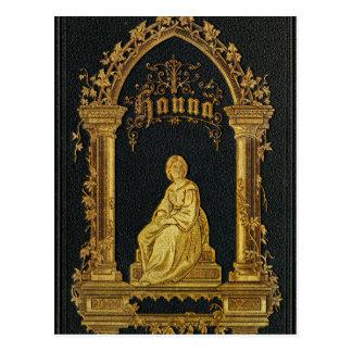 Libro de oración judío dorado Hanna de la antigüed Postal