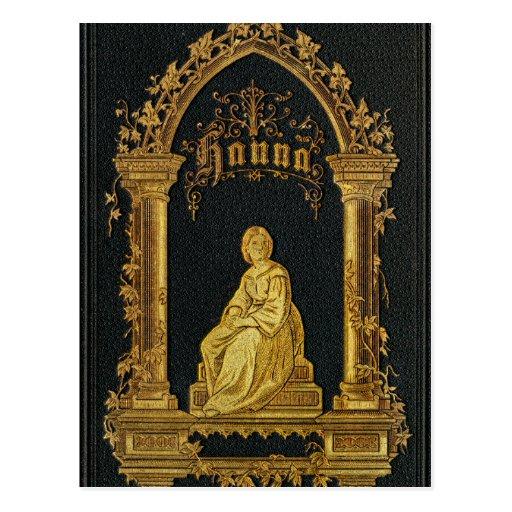 Libro de oración judío dorado Hanna de la antigüed Tarjeta Postal