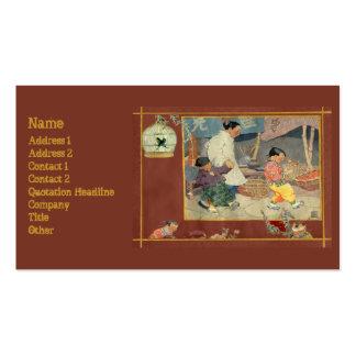 Libro de recuerdos oriental tarjetas de visita