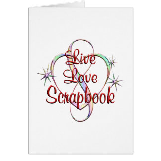 Libro de recuerdos vivo del amor tarjeta de felicitación