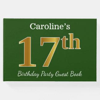 Libro De Visitas 17ma fiesta de cumpleaños del oro verde, falso +