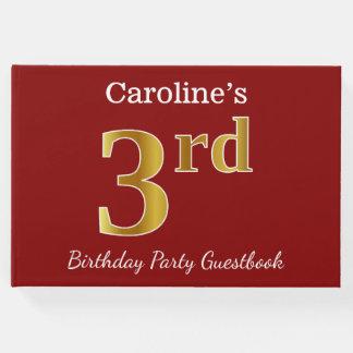 Libro De Visitas 3ro fiesta de cumpleaños del oro rojo, falso +