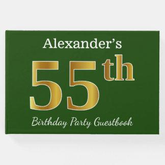 Libro De Visitas 55.a fiesta de cumpleaños del oro verde, falso +