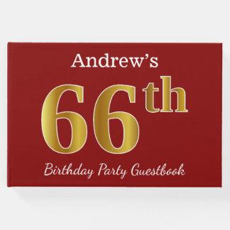 Libro De Visitas 66.a fiesta de cumpleaños del oro rojo, falso +