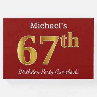 Libro De Visitas 67.a fiesta de cumpleaños del oro rojo, falso +