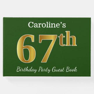 Libro De Visitas 67.a fiesta de cumpleaños del oro verde, falso +