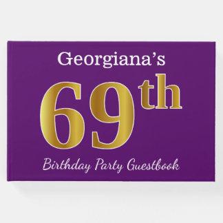 Libro De Visitas 69.a fiesta de cumpleaños del oro púrpura, falso;