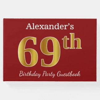Libro De Visitas 69.a fiesta de cumpleaños del oro rojo, falso +