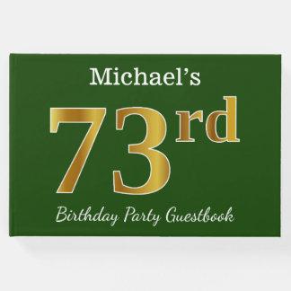 Libro De Visitas 73.a fiesta de cumpleaños del oro verde, falso +