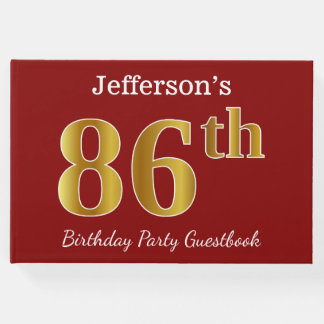 Libro De Visitas 86.a fiesta de cumpleaños del oro rojo, falso +