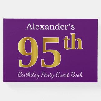Libro De Visitas 95.a fiesta de cumpleaños del oro púrpura, falso;