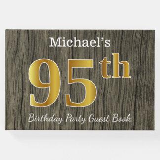 Libro De Visitas 95.a fiesta de cumpleaños del oro rústico, falso;