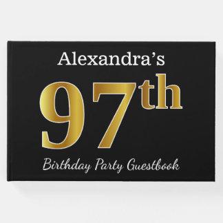 Libro De Visitas 97.a fiesta de cumpleaños del oro negro, falso +