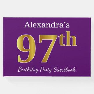 Libro De Visitas 97.a fiesta de cumpleaños del oro púrpura, falso;