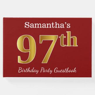 Libro De Visitas 97.a fiesta de cumpleaños del oro rojo, falso +