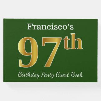 Libro De Visitas 97.a fiesta de cumpleaños del oro verde, falso +