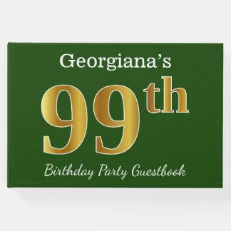 Libro De Visitas 99.a fiesta de cumpleaños del oro verde, falso +