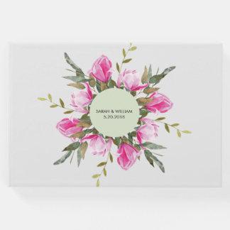 Libro De Visitas Acuarela floral de la magnolia