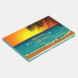 Libro De Visitas Arte de la puesta del sol de la playa del verano