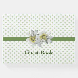 Libro de visitas bonito del boda de Edelweiss y