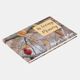 Libro De Visitas Cardenal en memoria cariñosa