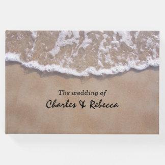 Libro de visitas casual del boda del tema de la