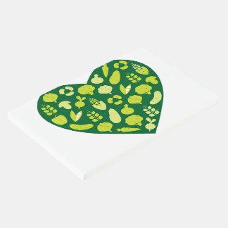 Libro de visitas con el bio corazón verde