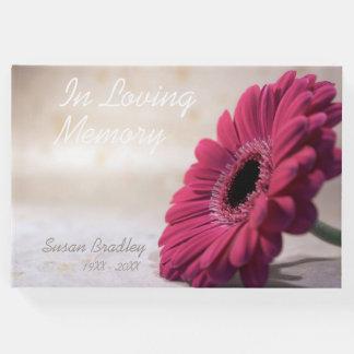 Libro de visitas conmemorativo fúnebre de la