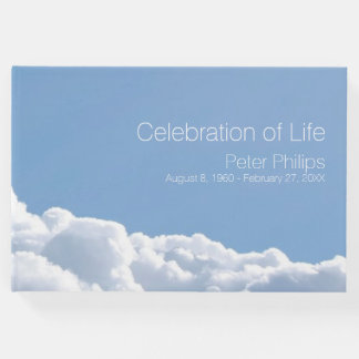 Libro de visitas conmemorativo fúnebre del cielo
