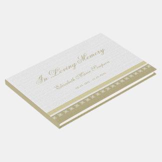 Libro de visitas conmemorativo o fúnebre elegante